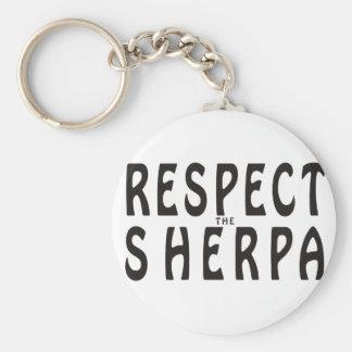 Respete el Sherpa Llavero Redondo Tipo Pin