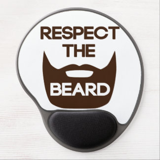 Respete la barba alfombrilla de raton con gel
