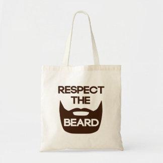 Respete la barba bolsas