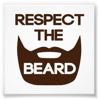 Respete la barba cojinete