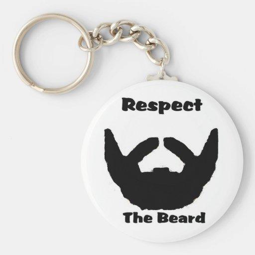 respete la barba llavero redondo tipo pin