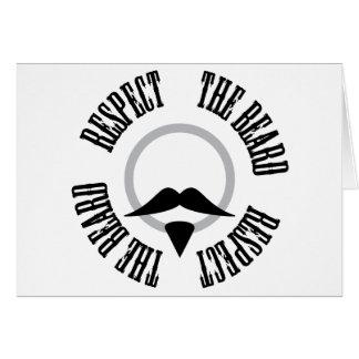 Respete la barba - perilla negra tarjeta de felicitación