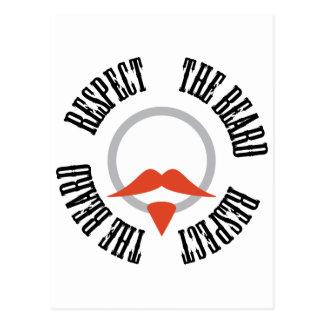 Respete la barba - perilla roja postal