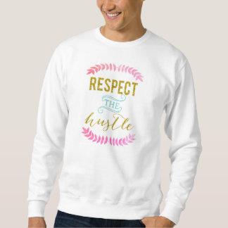 Respete la camiseta básica de la prisa sudadera con capucha