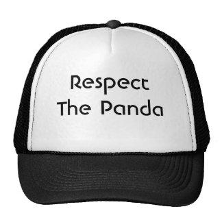 Respete la panda gorros