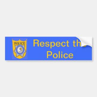 Respete la policía etiqueta de parachoque