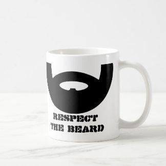 Respete la taza de café de la barba para los