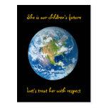 Respete la tierra - Día de la Tierra Postales