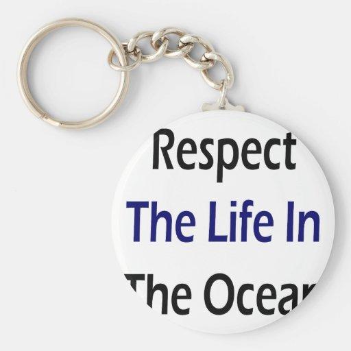 Respete la vida en el océano llaveros personalizados