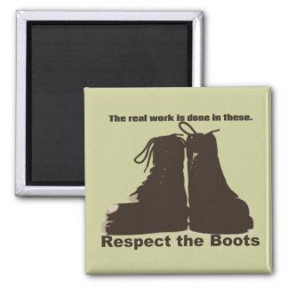 Respete las botas: ¡Qué trabajadores REALES llevan Imán Cuadrado
