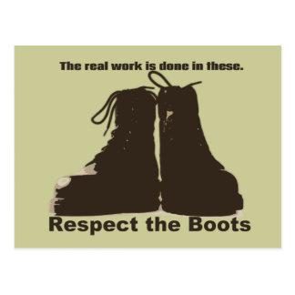 Respete las botas: ¡Qué trabajadores REALES llevan Tarjeta Postal