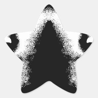 Respete mi amor de la paz de la vida pegatina en forma de estrella