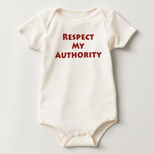 Respete mi autoridad body para bebé
