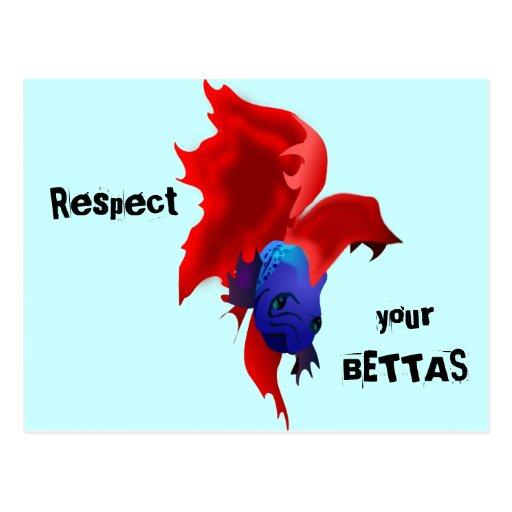 Respete su Bettas Tarjeta Postal