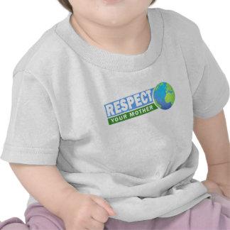 Respete su día de madre tierra - camisetas