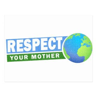 Respete su día de madre tierra - postal