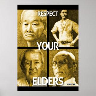 Respete sus ancianos (el poster grande) póster