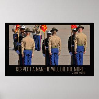 Respete un poster del hombre