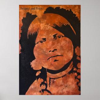 Respete y proteja. Mujer india de la burguesía Póster