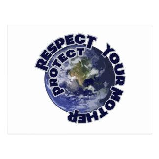 Respete y proteja su madre tierra postales
