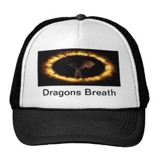 Respiración de los dragones gorros bordados