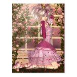 Respiración del arte color de rosa de la fantasía postales
