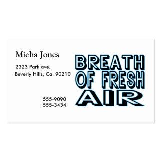 Respirar aire puro tarjetas de visita