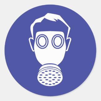 Respirator protection classic round sticker