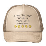 """Respiratory """"5 of Peep"""" Funny T-Shirts and Gifts Hat"""