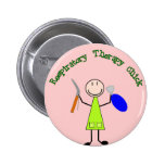 Respiratory Chick Pinback Button