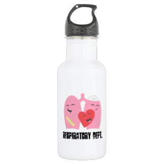 Respiratory Dept. Therapist Lungs Water Bottle, RT Stainless Steel Water Bottle