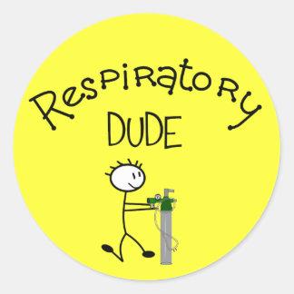 Respiratory DUDE T-Shirts & Gifs Classic Round Sticker