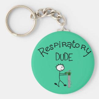 Respiratory DUDE T-Shirts & Gifs Basic Round Button Keychain