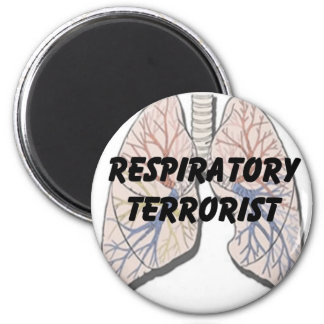Respiratory terrorist refrigerator magnets