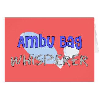 Respiratory Therapist Ambu Bag Whisperer Greeting Cards
