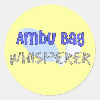 "Respiratory Therapist ""Ambu Bag Whisperer"" Classic Round Sticker"