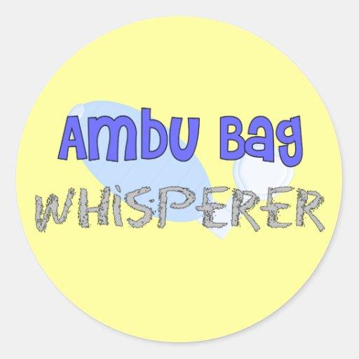 "Respiratory Therapist ""Ambu Bag Whisperer"" Sticker"