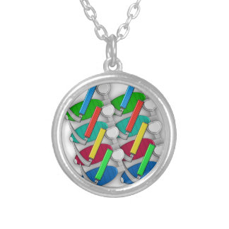 Respiratory Therapist Art Gifts Silver Plated Necklace