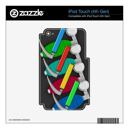 Respiratory Therapist Art Gifts Decals For iPod Touch 4G