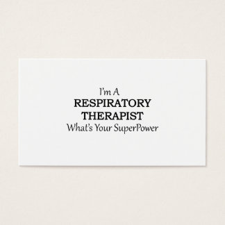RESPIRATORY THERAPIST BUSINESS CARD