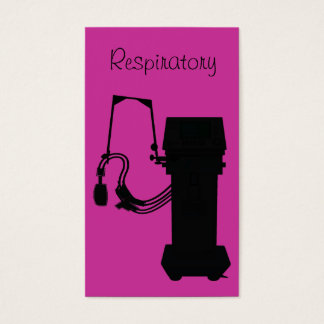 Respiratory Therapist Business Cards Vent