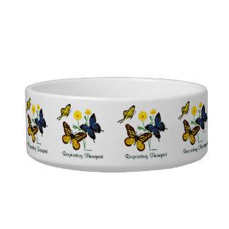 Respiratory Therapist Butterflies Bowl