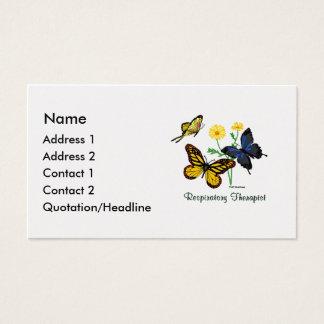 Respiratory Therapist Butterflies Business Card
