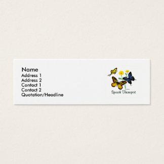 Respiratory Therapist Butterflies Mini Business Card