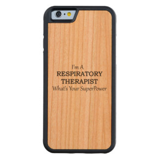 RESPIRATORY THERAPIST CARVED CHERRY iPhone 6 BUMPER CASE
