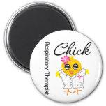 Respiratory Therapist Chick 2 Inch Round Magnet