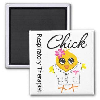 Respiratory Therapist Chick 2 Inch Square Magnet