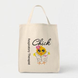 Respiratory Therapist Chick Tote Bags