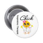 Respiratory Therapist Chick Pinback Button