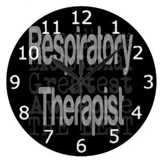 Respiratory Therapist Extraordinaire Large Clock